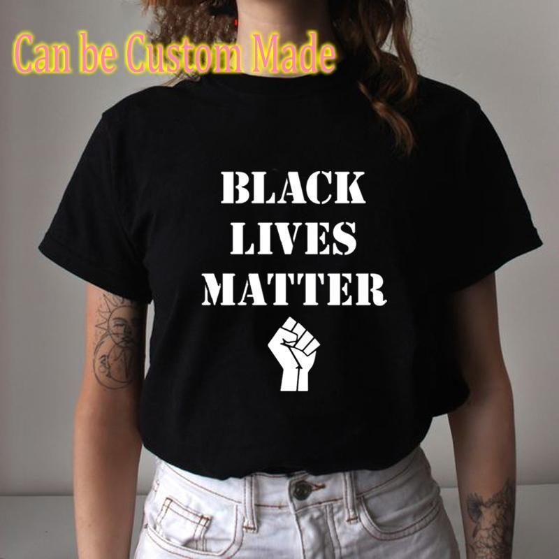 Hechos a Black Vidas materia blanda Gráfico T Shirt BLM verano ocasional camiseta no puedo respirar manga corta camiseta de Hip Hop Lo nuevo de alta Tees