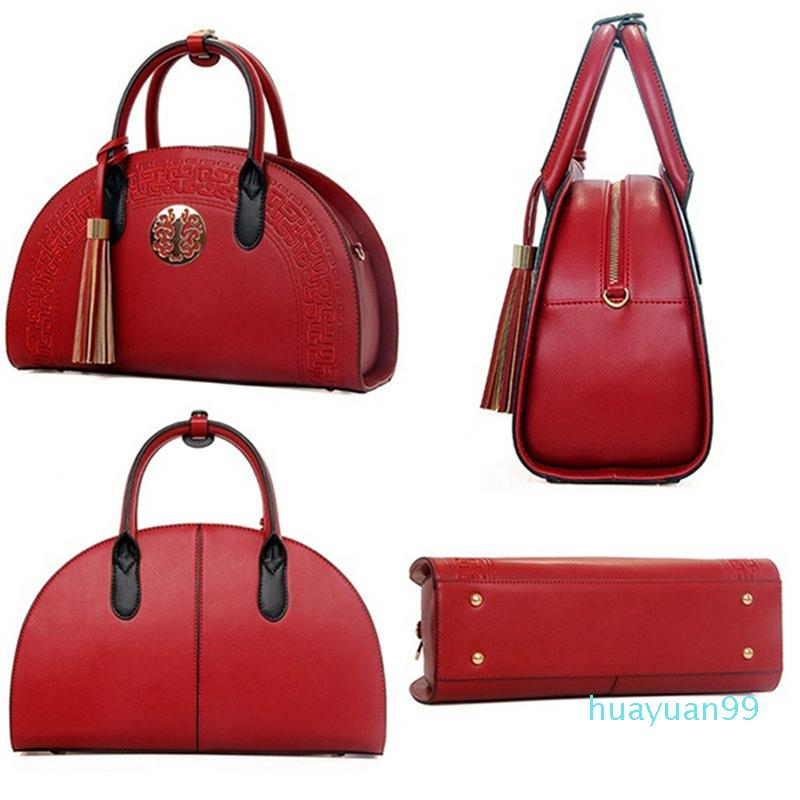 New- Patchwork PU Lantejoulas Tassel Bolsa Mulheres Sacos Franks Bolsas Bags Crossbody Couro para Feminina Umkwf