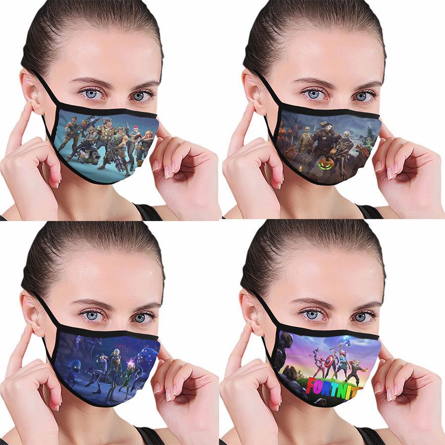 Fortnite модели полноширинная печататься пыль маска с черной рамкой, удобно мыть и повторно использовать, легко носить и бесплатную доставку