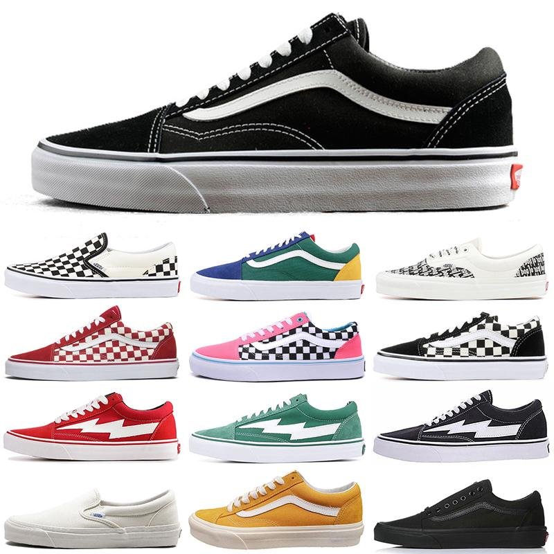 van Old Skool Fear of God Authentic Designer skateboard shoes Triple Black White Checkerboard Slip-On Fashion skate Canvas Casual Shoes