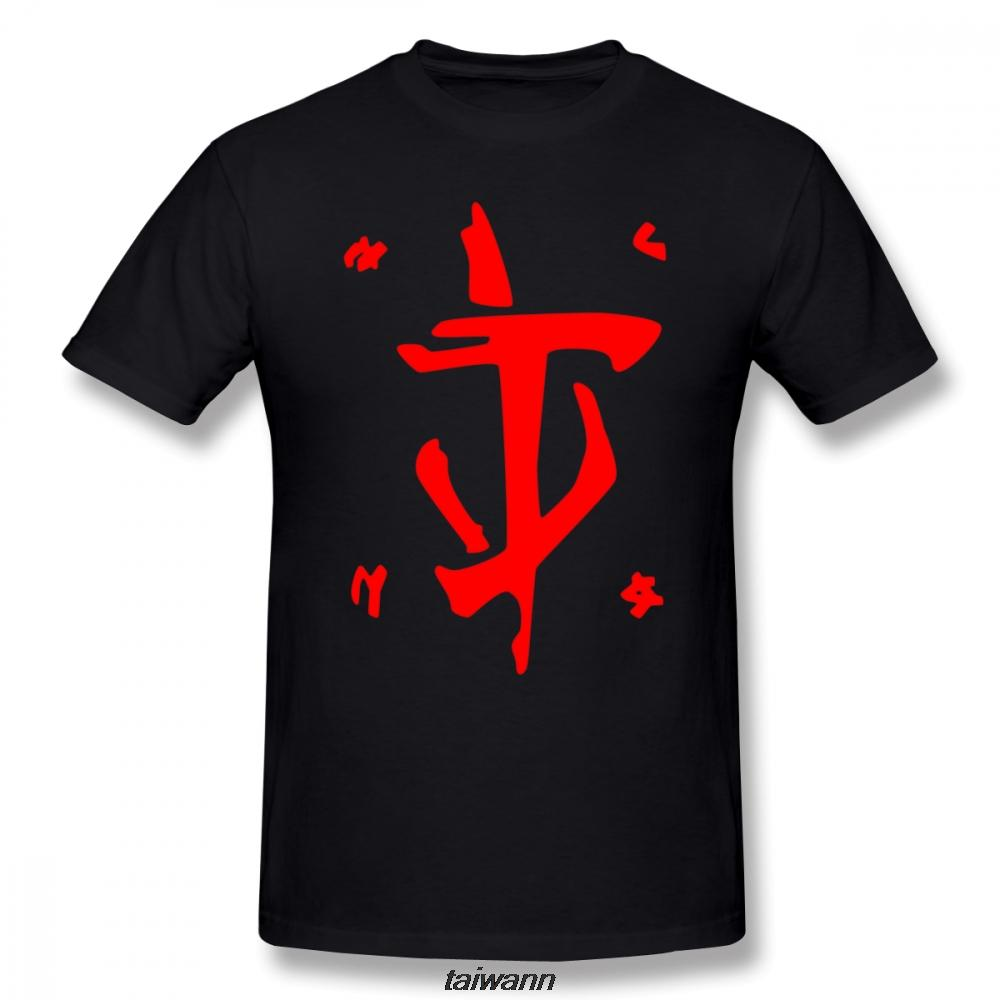 Doom T-shirt Mark Of The Slayer Doom T-shirt rouge d'impression 100 pour cent T-shirt manches courtes Homme 6xl mignon T-shirt de plage