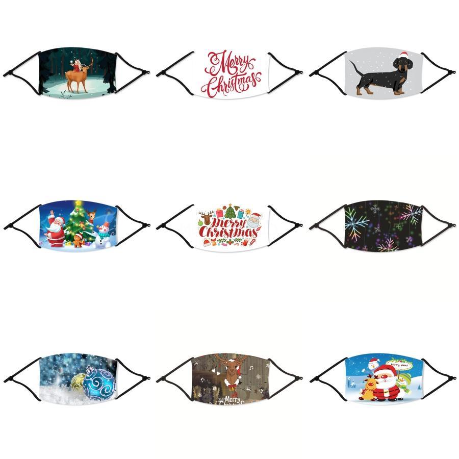 Cara de Navidad Máscara de ciclo de Navidad a prueba de polvo a prueba de Haze transpirable de protección solar de Navidad MaskandOutdoor Deportes Suministros Con # 154