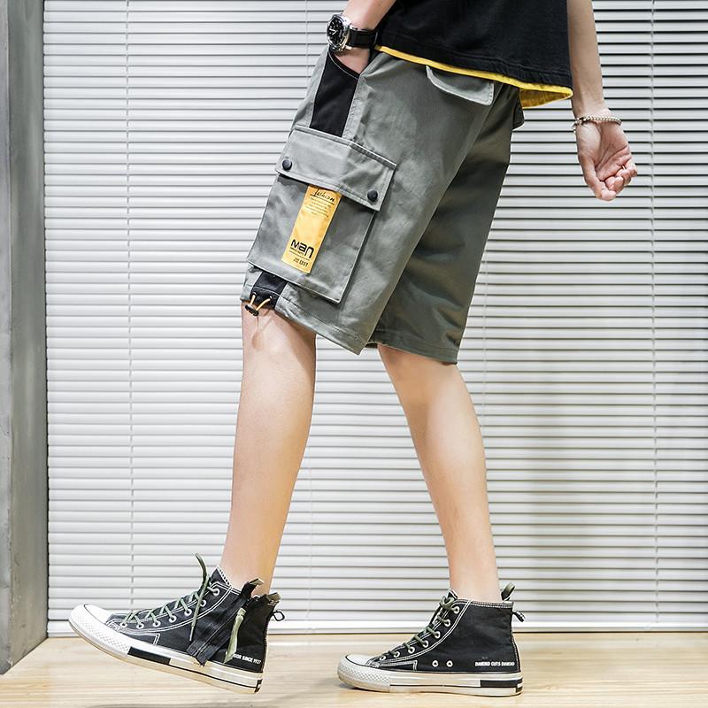 Шорты мужские лето новый стиль Корейский стиль Подросток Красивый Bib Общий Мужчины Спорт Trend Сыпучие-Fit повседневные шорты-40