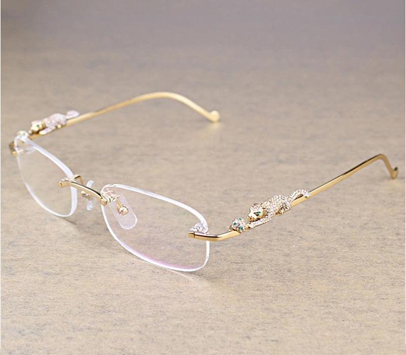 Mode Ovale clair Lunettes Homme Transparent Lunettes de lecture Lunettes Pierre Accessoires Oculos Lunettes