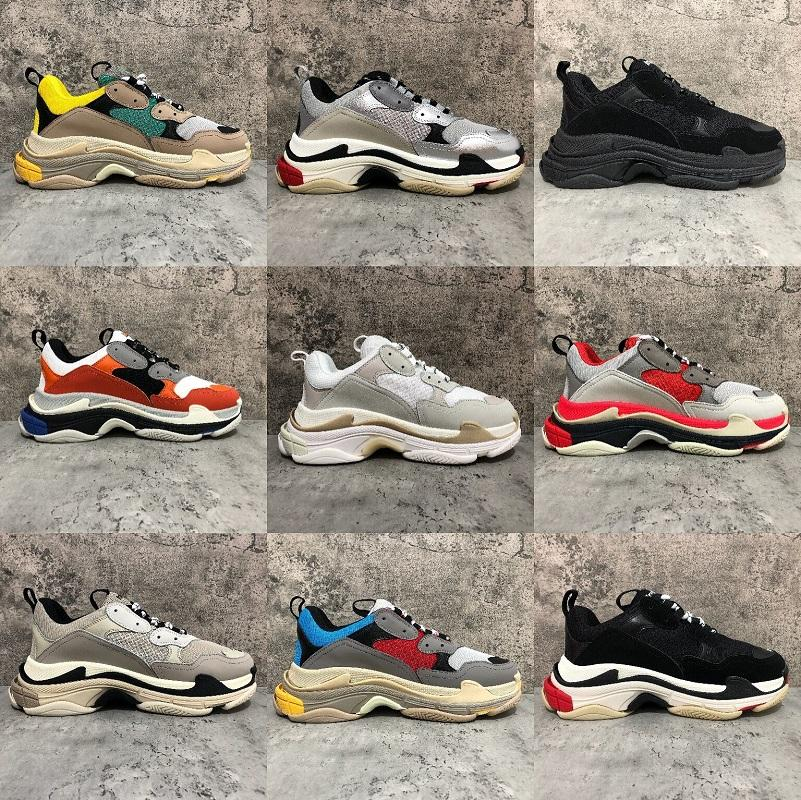 New Paris Triple-S White Black men mens shoes Black pink cream yellow red cheap womens fashion casual shoes sneakers