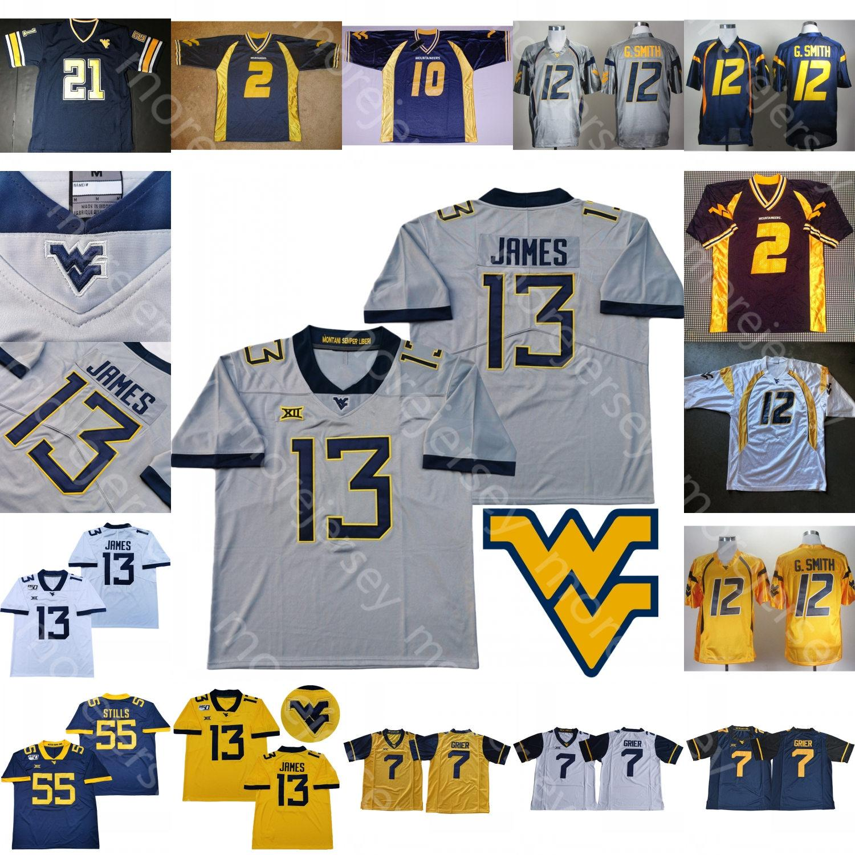 2021 Custom West Virginia Mountaineers WVU Football Jersey NCAA ...
