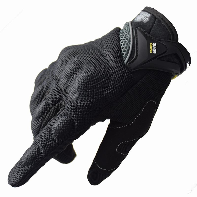 Motorcycle Riding Cycling Full Finger Motocross Motorbike Gloves luvas da moto Touch Screen Black M-XXL