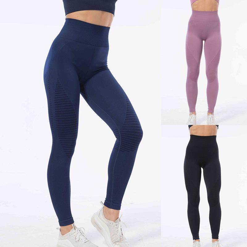 donne yoga pantaloni senza soluzione di push up yoga legging Leggings palestra alta allenamento vita sportivo Fitness Sport pantaloni di moda nuovi