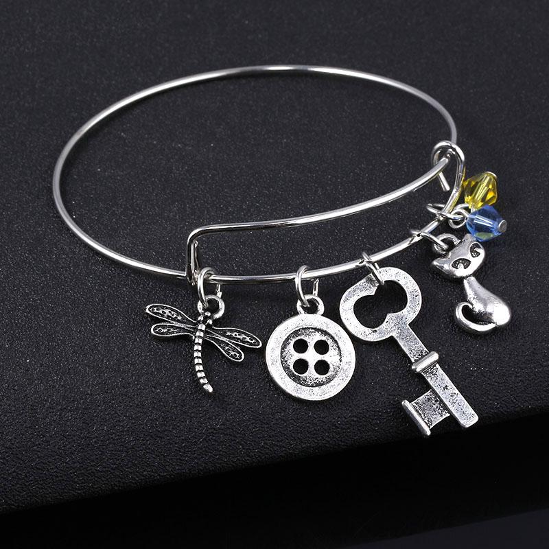 Sg Horror Coraline Bracelet Button Key Cat Charms Bangle Nightmare Before Christmas Pulsera Women Girl Cosplay Jewelry Gift Bangle Bracelets With Charms Gold And Silver Bangles From Juaner 16 07 Dhgate Com