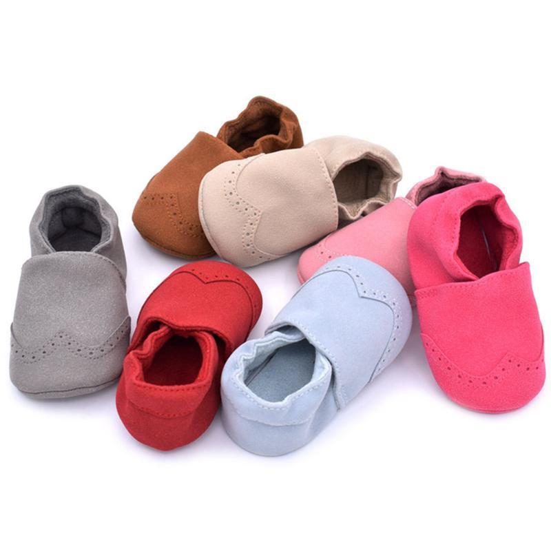 Neugeborenes Baby Mokassins Kleinkind-Säugling Mädchen Junge Veloursleder Schuhe Kinder Prewalker Anti-Rutsch-Sohle Schuhe Erste Wanderer