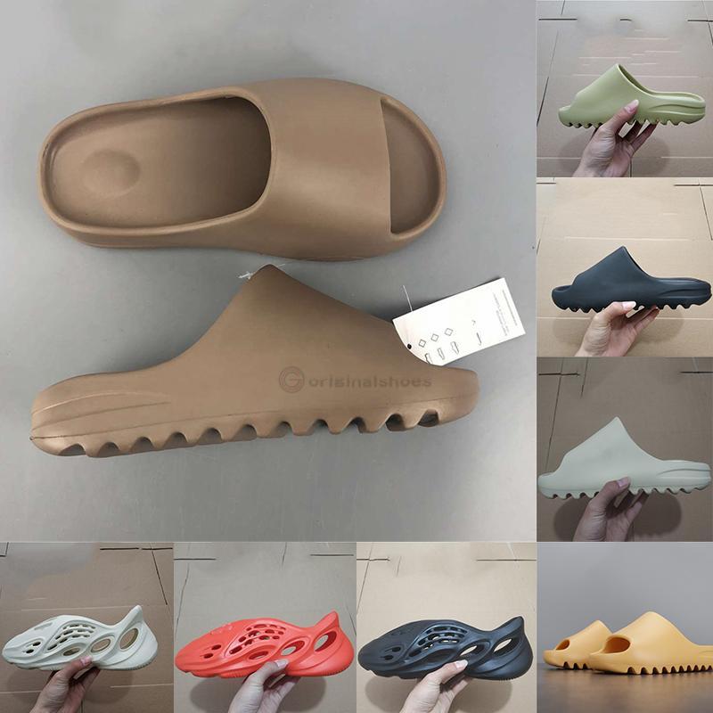 상자 패션 폼 러너 샌들 럭스 디자이너 여성 샌들 배 블랙 화이트 카니 슬라이드 플립과 함께 슬라이드 sandale 망 슬리퍼 슬리퍼