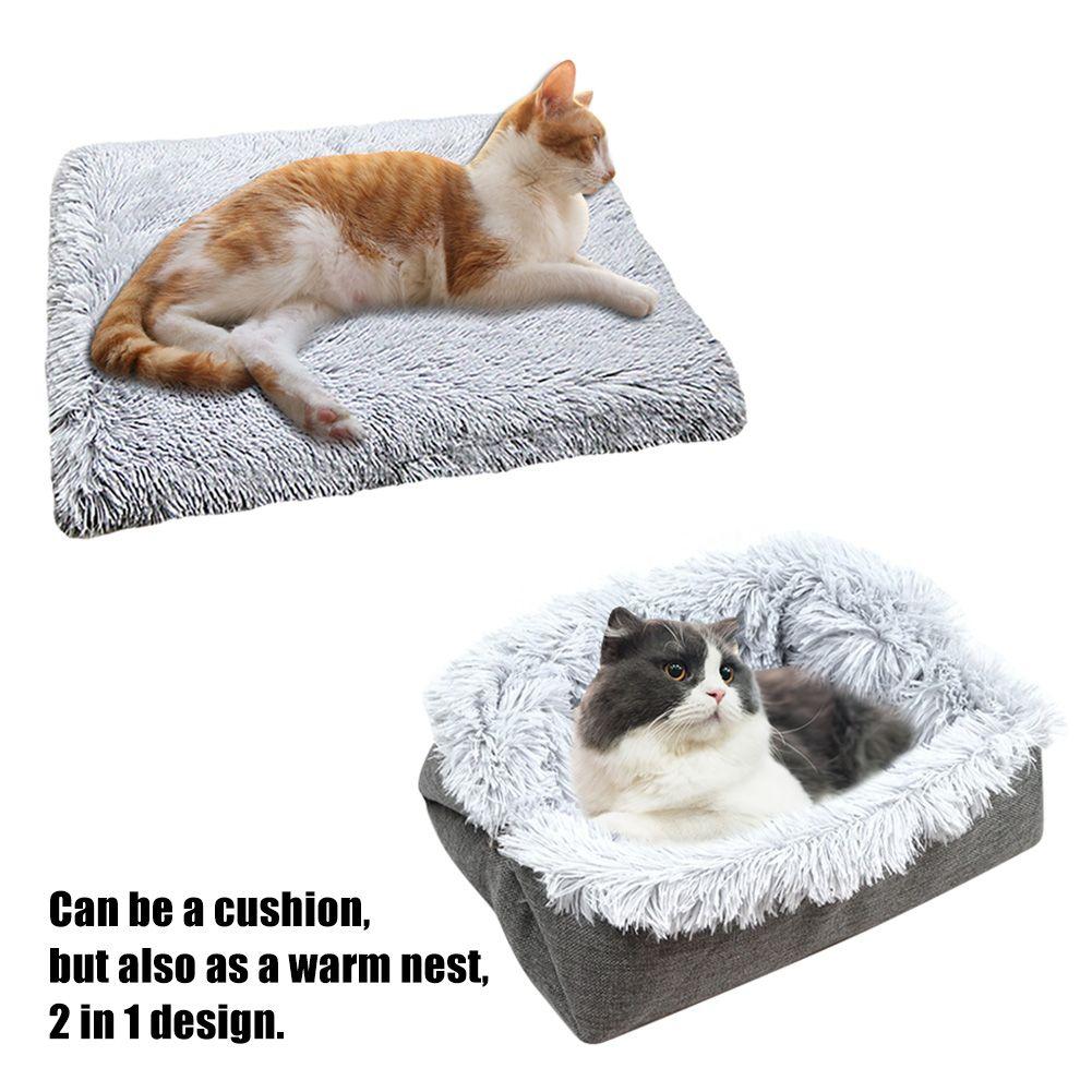 Long Plush Multifunctional Cats Dogs Furry Mat Winter Warm Cushion Pet Bed Soft