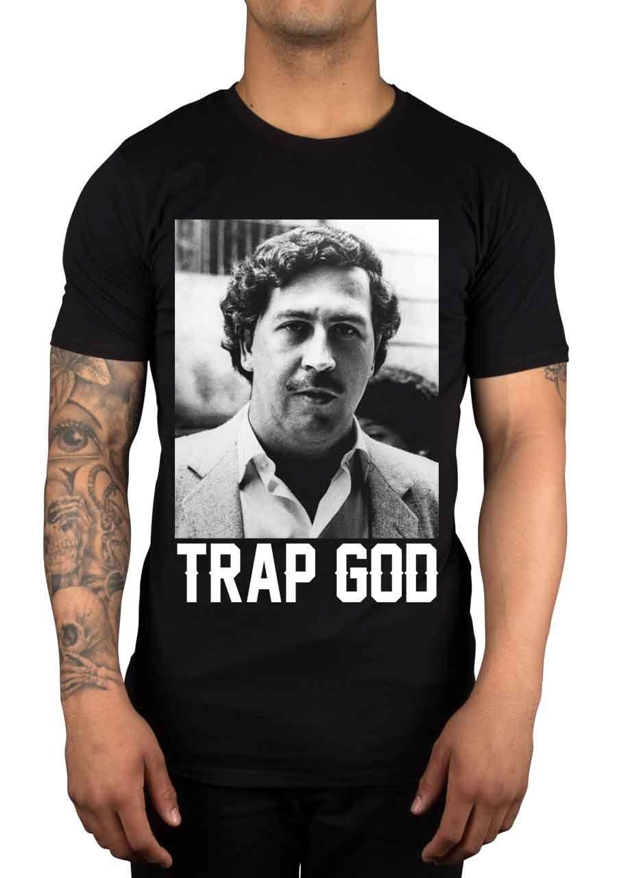 T-shirt Homme 2019 Dio maglietta caldo di vendita di modo degli uomini Trappola Pablo Escobar Denaro droga Coke urbano Tv Colombia Marca