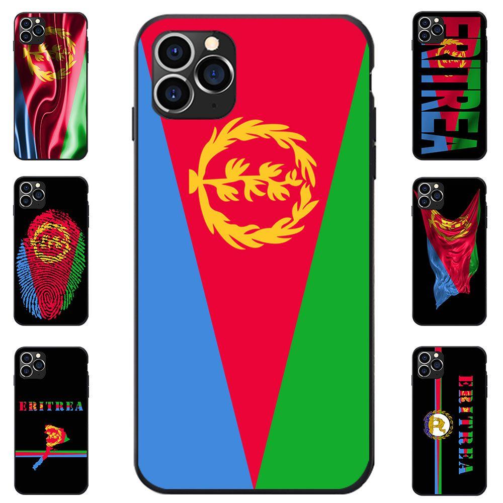 Эритрея Национального флага Тема I Love Карта сердце герб Античного ТПУ телефон дело для iPhone 6 7 8 S XR X Plus 11 12 Mini Pro Max SE 2020