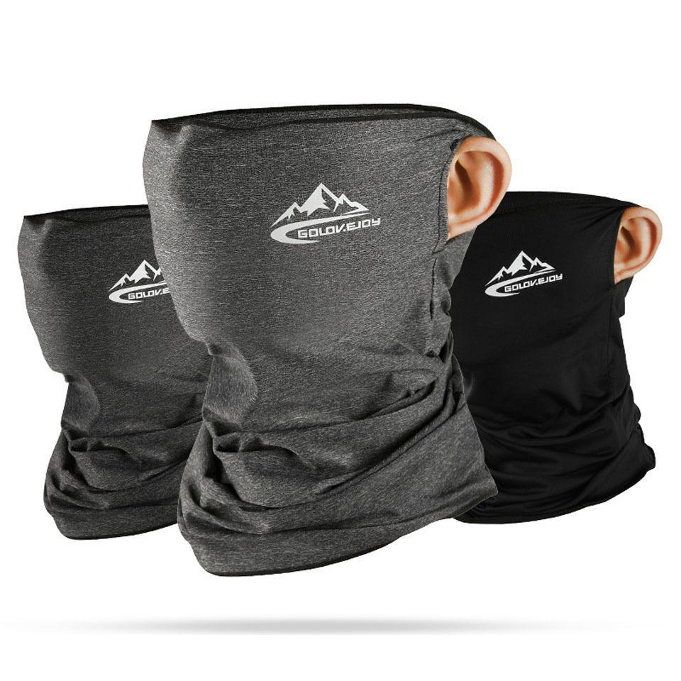 Yaz Bisiklet İlkbahar Yarım tasarımcı Yüz Maskesi Cilt Buz İpek Nefes UV Koruma Spor Şapkalar Bisiklet Kafa Maskesi yüz kalkanları Soğuk