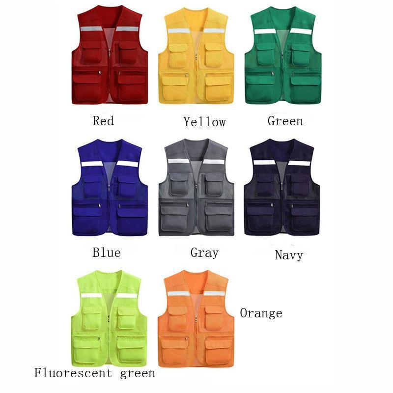 cgjxs Sicherheits-Reflex Warnweste Arbeitskleidung reflectante Chaleco Tag Nacht Schutzweste für Radfahren Straßenverkehr Dyf003 T190622