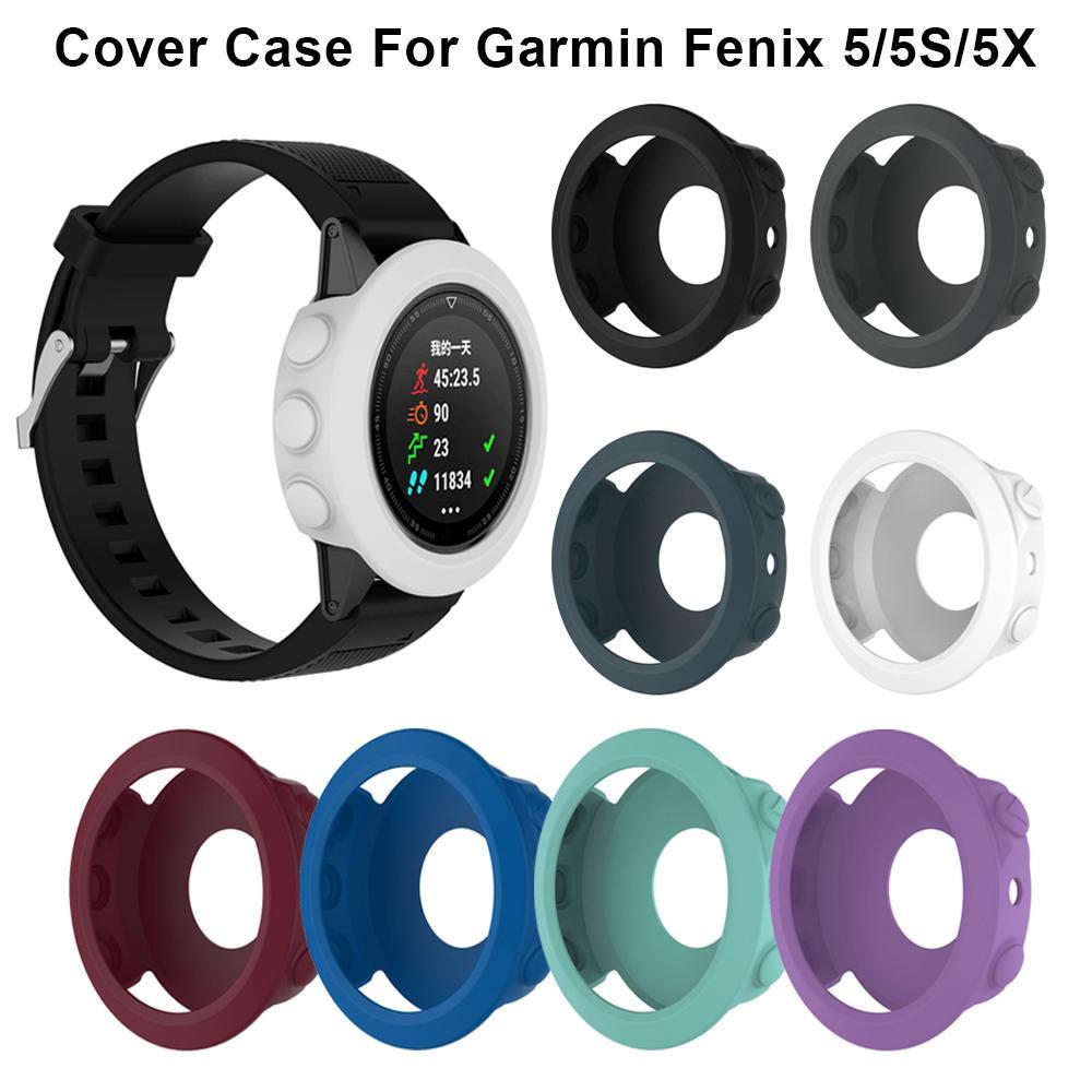 Обложка Мягкий силиконовый защитный чехол для Garmin Fenix 5 / 5x / 5s Резиновый бампер Shell