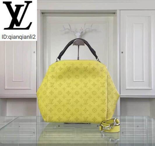 qianqianli2 69PZ 50031 primavera e verão novos couro macio tecido punho amarelo sacos bolsas alças de ombro sacos TOTES NOITE CROSS