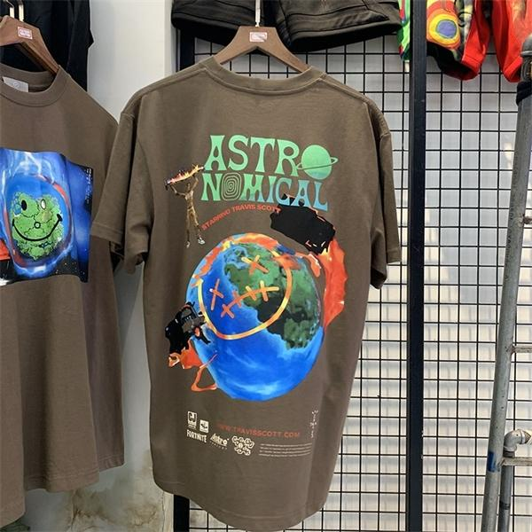 Cotone Starrino coppie Travis Camicia Astronomica Uomini Donne Hiphop 2020SS Oversized Summer Tees T Uomini T-shirt Tops Scott 0924 QGMGK