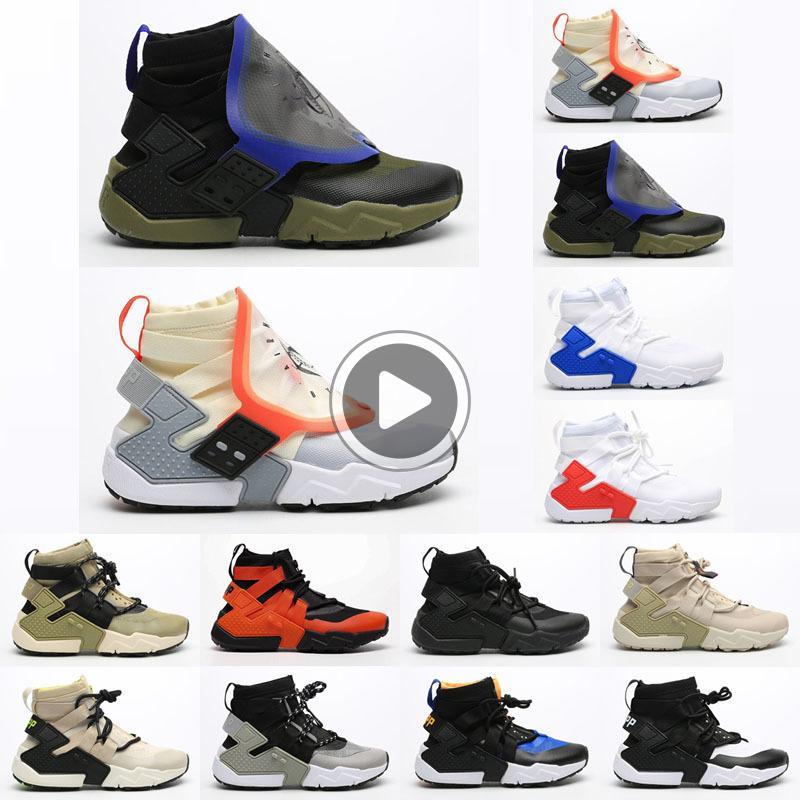 Nouveau Huarache Gripp Voile QS Femmes Hommes Chaussures de course pour meilleure qualité Huara Khaki Bleu Sport Chaussures Jogging Marche Taille 36-45 NLAS