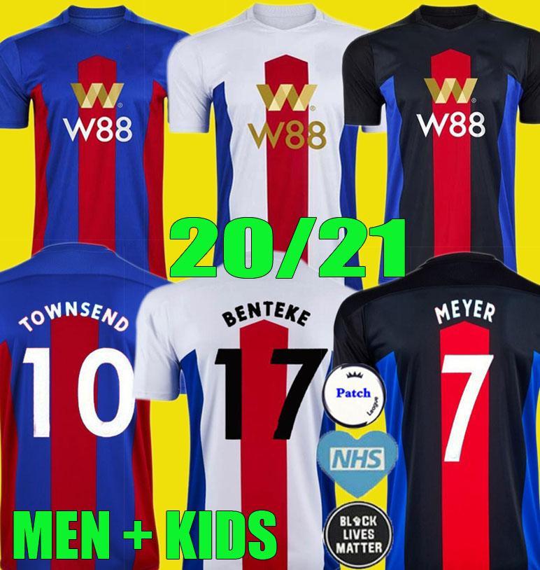 20 21 الكريستال لكرة القدم الفانيلة زها MILIVOJEVIC TOWNSEND ساخو BENTEKE 2020 2021 VAN AANHOLT كرة القدم قصر قميص الزي الرسمي MEN + KIDS KIT