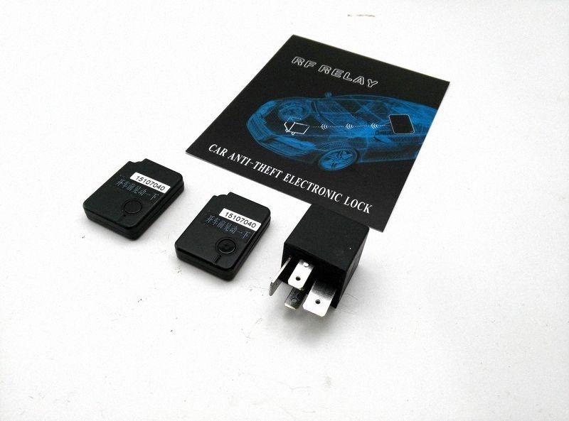 10PCS 12V modèle anti-vol systèmes d'alarme après-vente de dispositifs de sécurité de voiture interrupteur d'arrêt caché relais antidémarrage sans fil RF-DZ 77UV #
