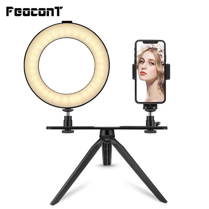 LED Selfie Light Ring Lamp 6inch/10inch Light Ring Holder Mobile Phone For Live Stream Photography Youtube Tik tok Make up