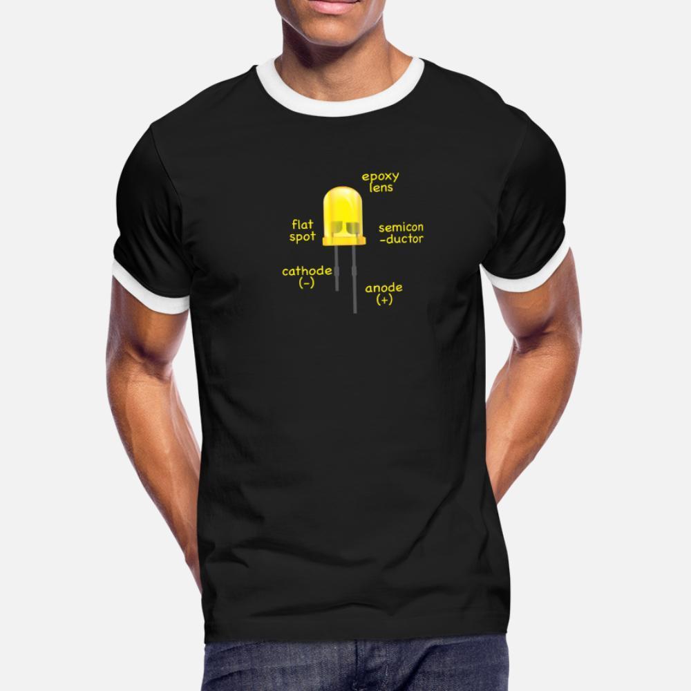 Engenheiro elétrico amarelo Led Explicação como um presente da camisa de t homens designer de algodão S-3xl roupas Sunlight engraçado camisa Casual fresco Estilo Verão