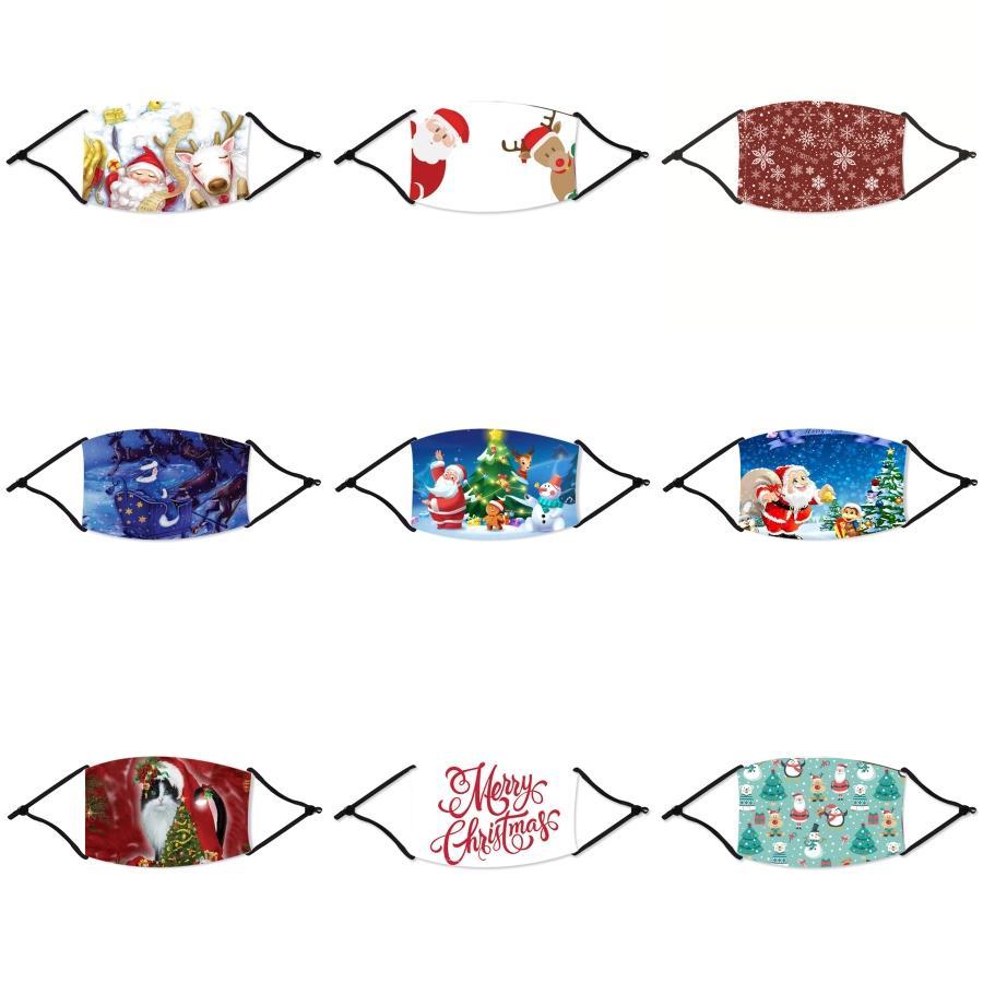 Mund Ice Waschbar Gesicht Weihnachten Maske Einzelne Schwarz-Geschenk-Paket Antistaub PM2.5 Staubdichtes Anti-L wiederverwendbarer Silk Beutel In Stock # 416
