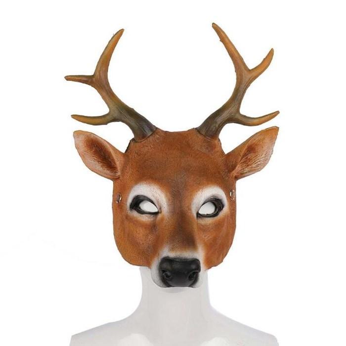 Chrisrmas Partei-Schablonen Weihnachten PU Milu Deer Form Mask Halloween-Party-Schablonen-Partei-Masken Großhandel WY830