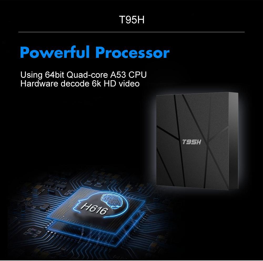 T95H Android 10.0 Smart TV Box Allwinner H616 4GB RAM 32GB 64GB ROM 2.4G dual Wifi 6K