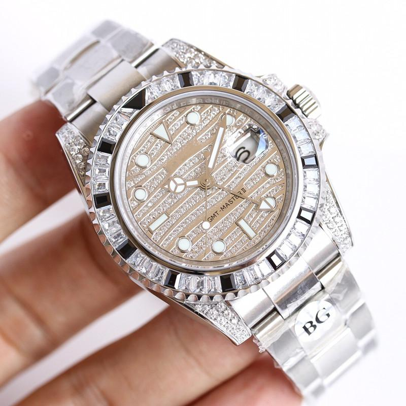 116758/9 SA Luxury Designer Watches MENS Watch 2836 Movement Movement Automatic dual time zone 40mm High-end Men Watch