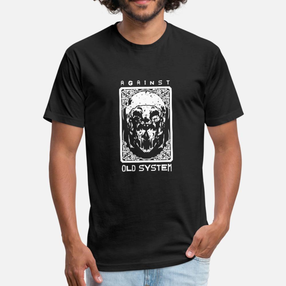 против старой системы 7 т рубашки мужчины создают 100% хлопок O-образный вырез Новизна против морщин комичного лета Оригинала рубашки