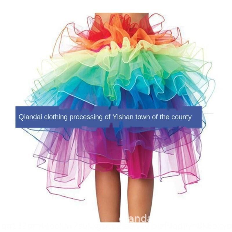 CsZU3 радуги сексуального нижнего белья красочных пушистые пушистые белье Pengpeng взрослый хвост шнуровка юбка юбки поддержки Pengpeng