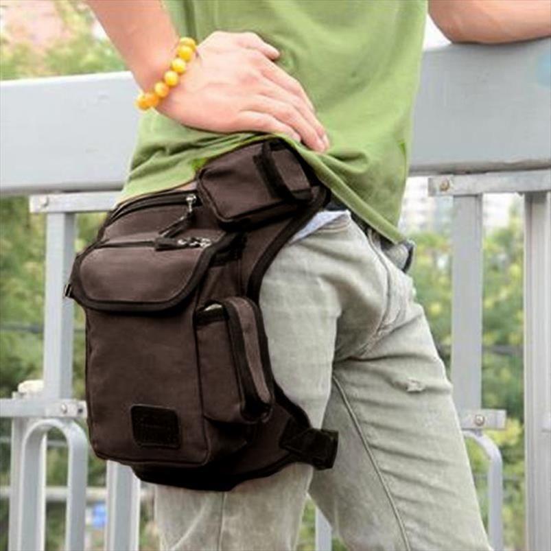 Men Canvas Drop Leg Bag Waist Bag Fanny Pack Belt Hip Bum Military travel Multi purpose Motorcycle Messenger Shoulder Bags