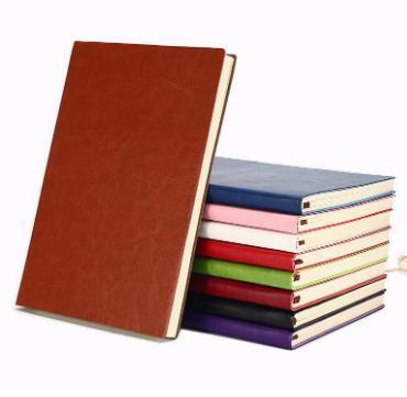 Custom Notepads 5 Colors Options Business Office Simple Retro A5 Sheepskin Notebook Custom Bronzing Logo