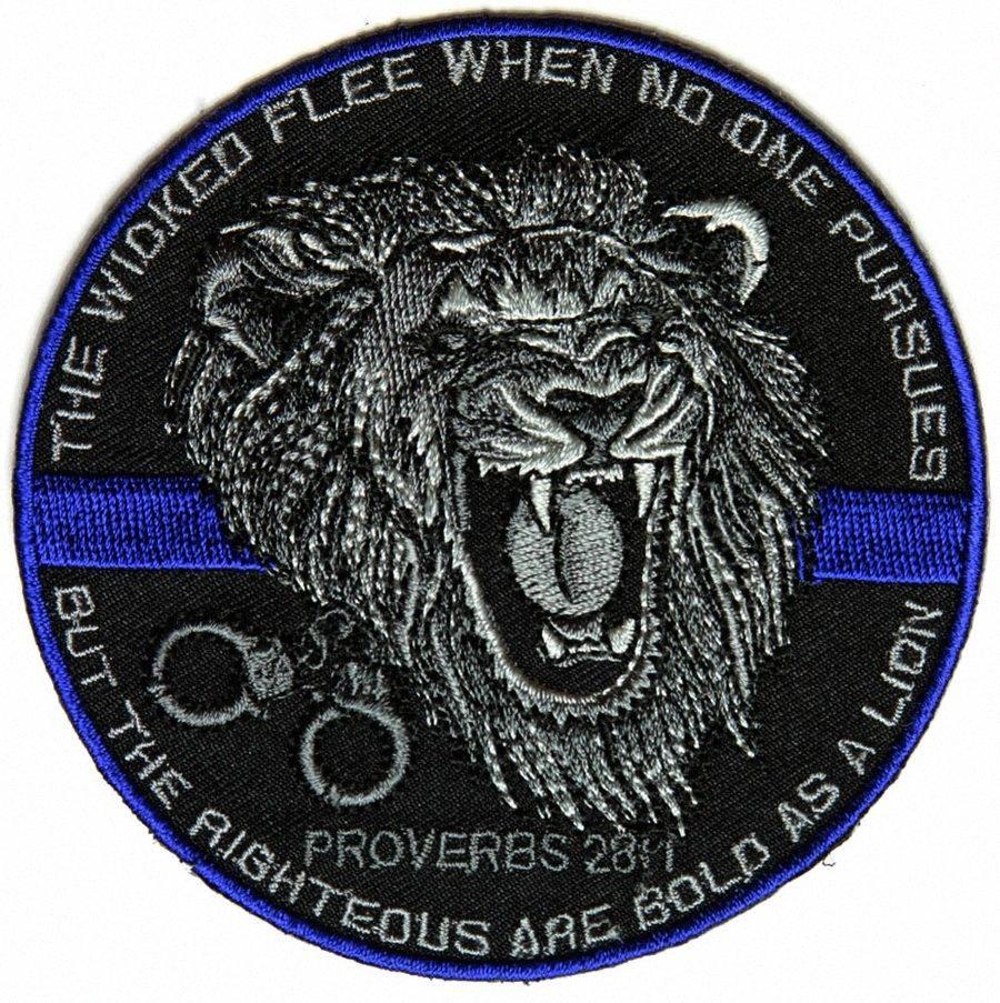 Top-Qualität Der Gerechte Bold As A Lion Patch für Law Enforcement Real Man Chest Jacke Eisen auf Flecken-freies Verschiffen 2NSy #