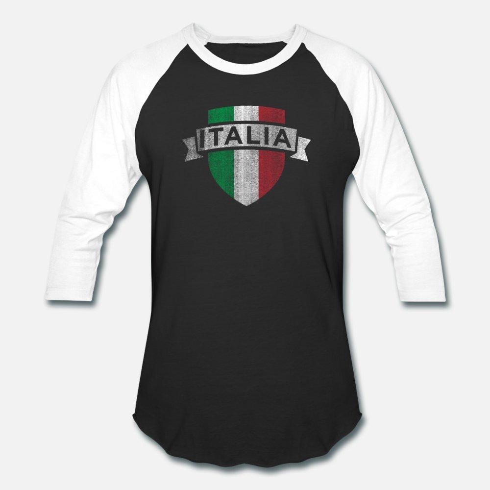 Italia Stampa Vintage italiana di calcio Jersey uomini della maglietta su misura camicia di cotone Euro Size S-3XL vestiti larghi di nuovo stile di stile di estate