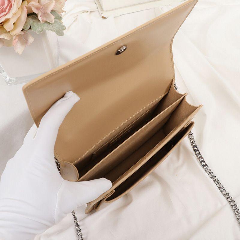 Crossbody Çanta Günbatımı Tasarımcı Flap Çanta Marka Çanta Zincir Lüks Zincir Cüzdan Omuz Yüksek Kalite Moda Kadın Cüzdan Eiajw