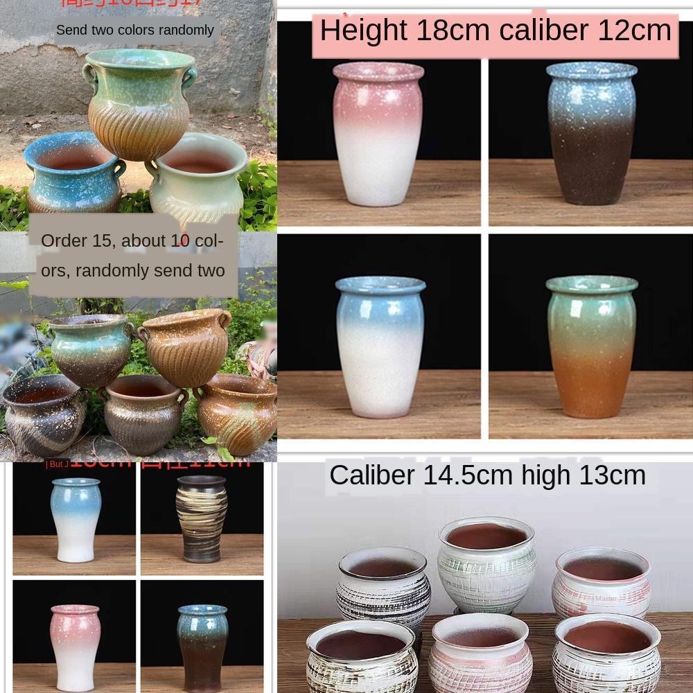 Multi-viande flowerpot offre spéciale poterie grossière extra large gros calibre simple, pot poterie perméable à l'air vieux maître tas charnu et charnue