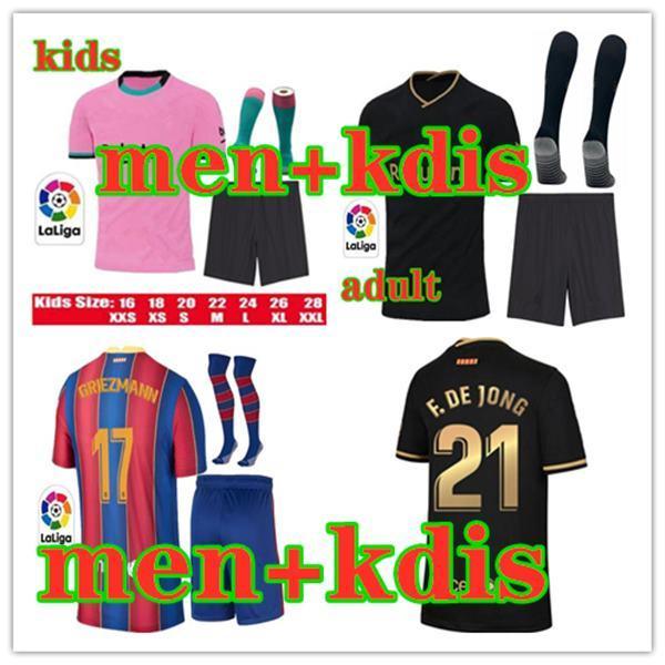 FC BARCELONA Fußballtrikot 2020 2021 camisetas de futbol Ansu FATI 20 21 Messi Griezmann De Jong Maillots de la Fußballtrikot-Kit Männer Kinder