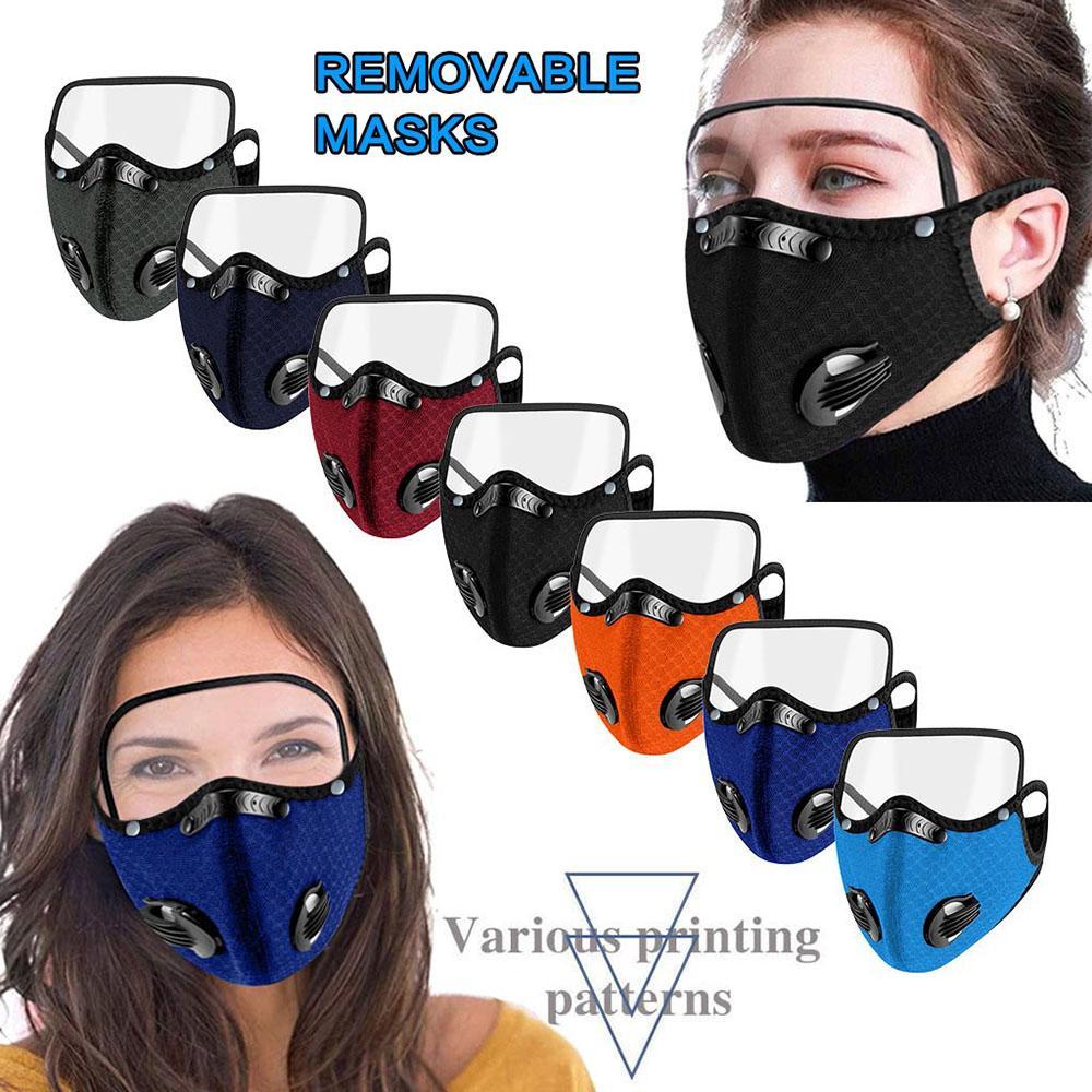 Road Radfahren Eye Party Atmungsaktive Schild Maske Filter Outdoor Anti und Waschbare Masken Staubausbildung Rxie Lauffläche und wiederverwendbar Wind FCVV