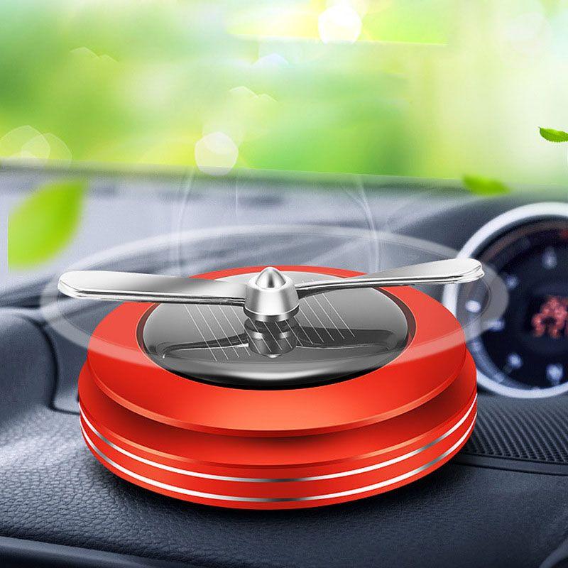 Solar-Parfüm-Halter Propeller Automatische Rotated Auto Lufterfrischer Aroma Diffuser Auto-Innenraum-Luftreiniger Ornament