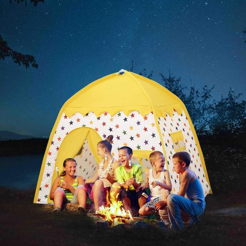 Children Tent Princess Tent Girls Playhouse Kids Castle Play For Children Girls Boys Home Play Indoor Outdoor Games