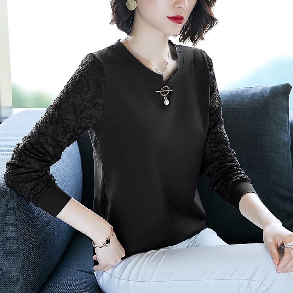 Modal T kadın moda moda bahar giysileri 2020 En tişört Yeni gevşek baz gömlek orta yaşlı anneler üst uzun kollu.