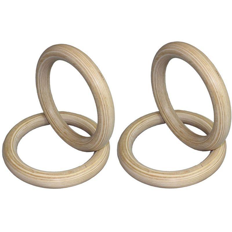 28 millimetri portatile di legno kit anello di legno Crossfit anelli di ginnastica Palestra spalla Forza Home Fitness Training attrezzature D5BA