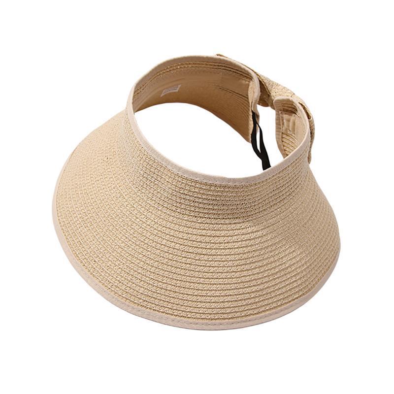 Женщин ВС Соломенная шляпка Широкий Брим Соломенная шляпка Summer Beach Регулируемый солнцезащитный козырек Женский Shade с милой Bowtie # 30