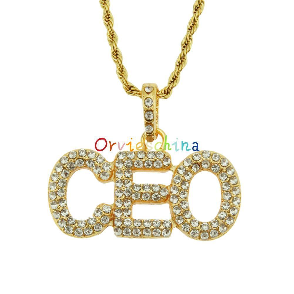 2020 designer de jóias colar de pingente de explosão jóias americanas e européias carta personalizada CEO diamante colar de pingente