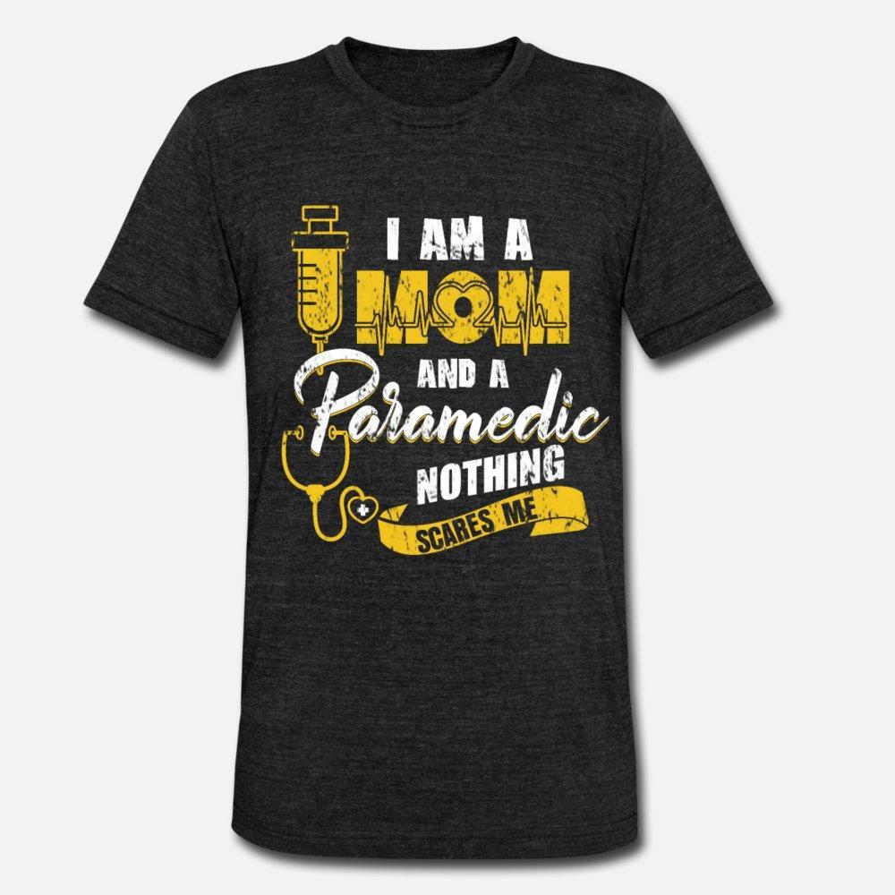 Paramedik Ambulans Operasyon Hediye Anne t gömlek erkekler Kısa Kollu Mürettebat Boyun Normal İlginç Nefes yaz ince gömlek oluşturmak