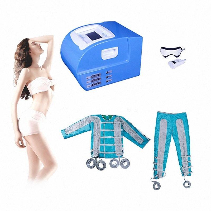 2019 Pressoterapia Drenagem Linfática Máquina Sauna Ems Muscle Stimulation Air onda de pressão Detox Botão Ems corpo emagrecimento Slimming YdC5 Corpo #